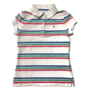 Girls Striped Tommy Hilfiger Polo
